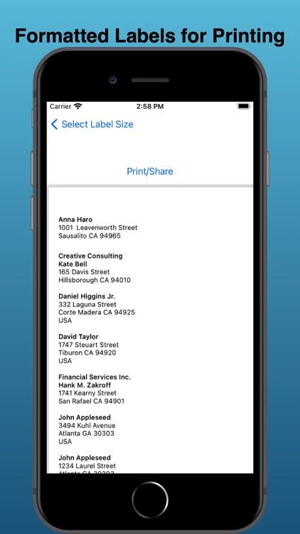 EZ Mailing Labels II screenshot-9