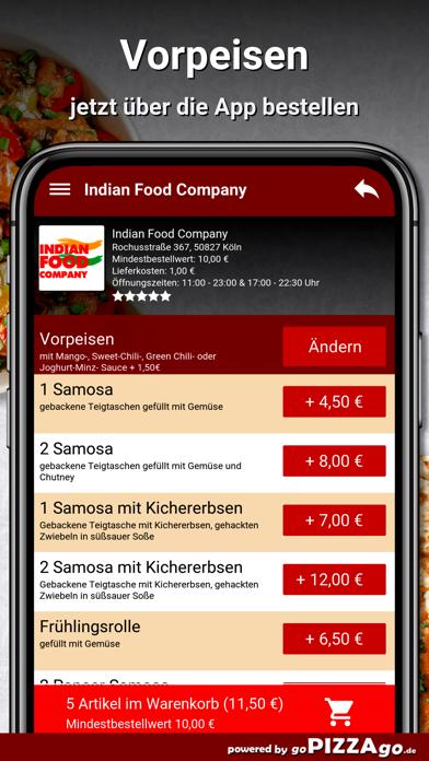 Indian Food Company Köln screenshot 5