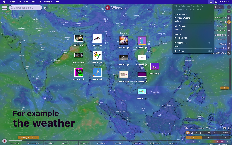 Screenshot do app Plash