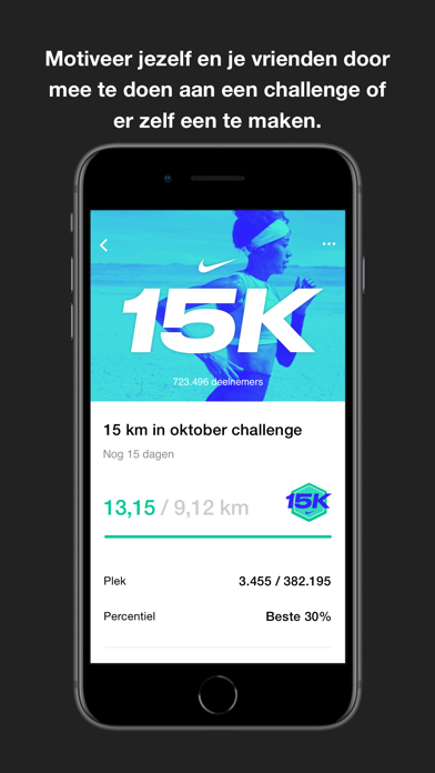 Nike Run Club iPhone app afbeelding 4