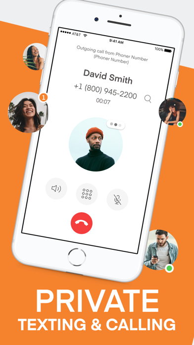 Phoner: Text+Call Phone Number Screenshot