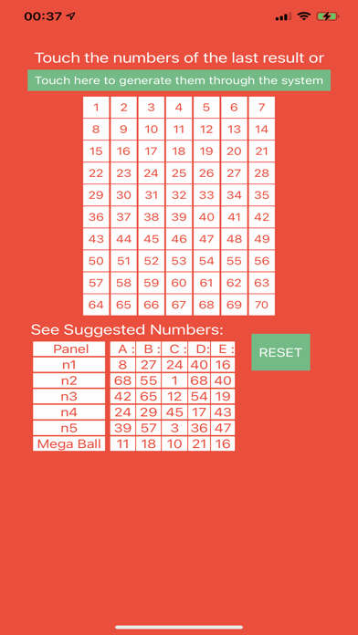 Lottery Predictions Screenshot