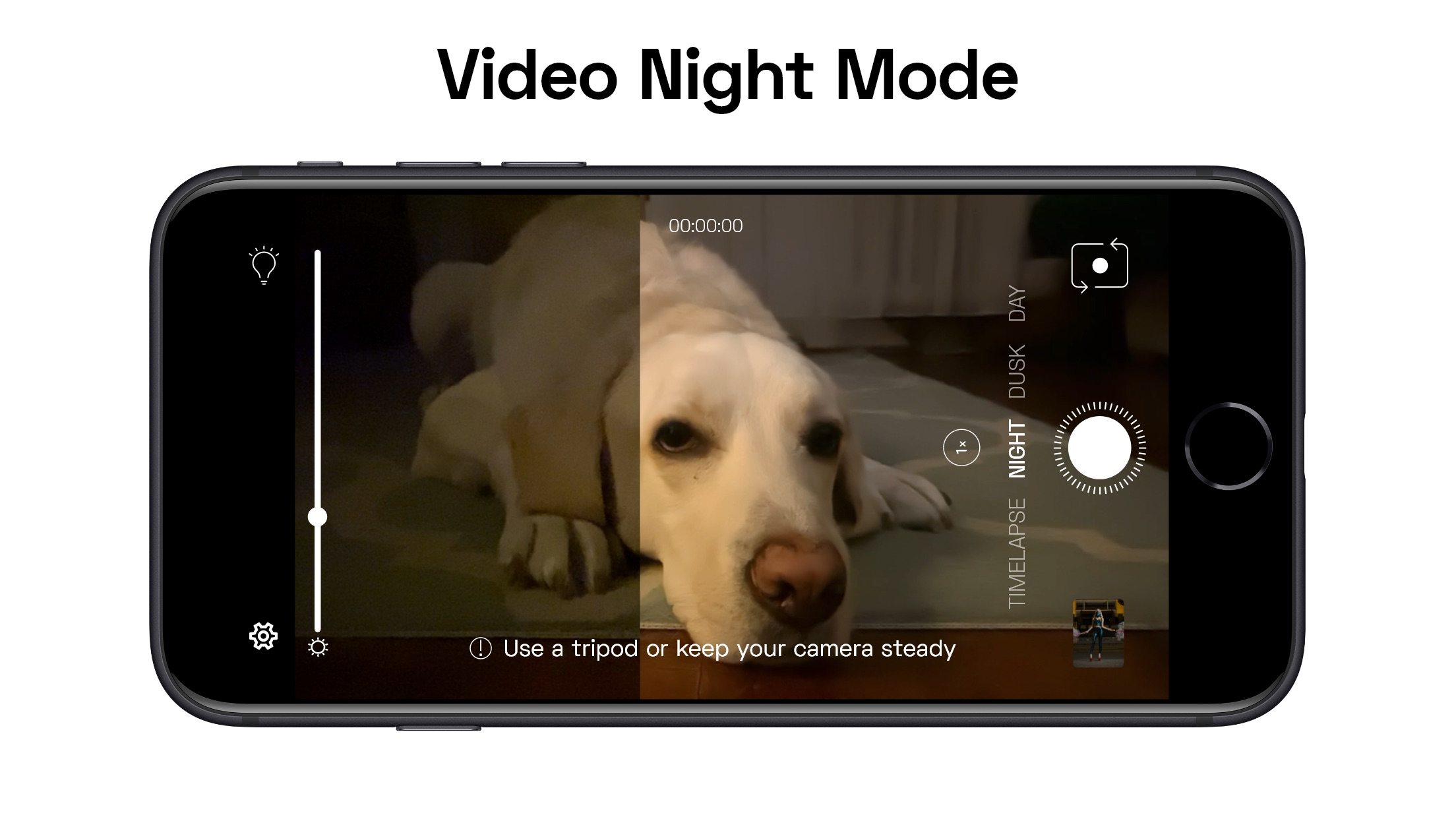 Screenshot do app NeuralCam Night Video