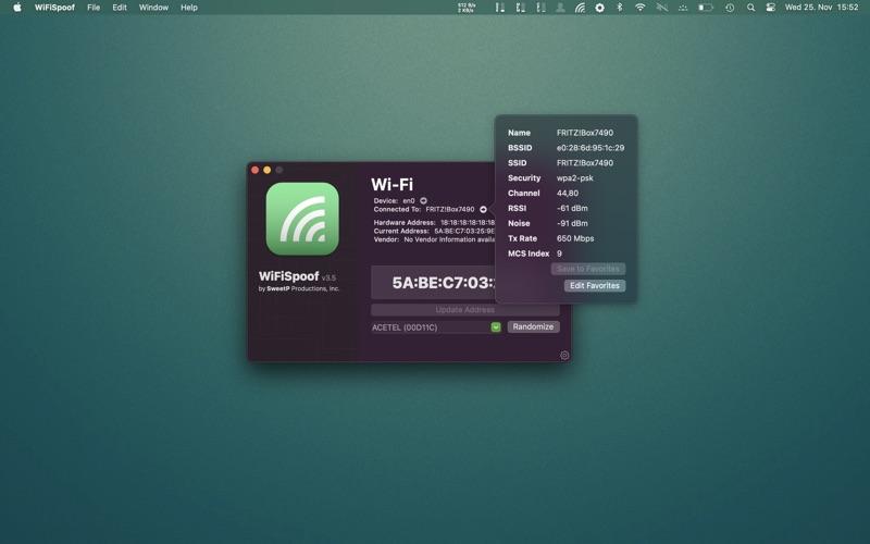 WiFiSpoof Screenshots