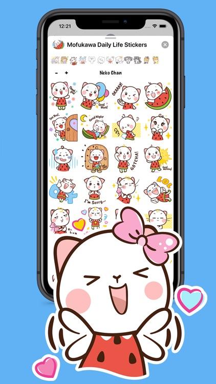 Mofukawa Daily Life Stickers screenshot-3