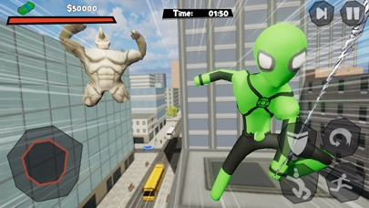 Stickman Spider -Rope Hero Sim Screenshot on iOS