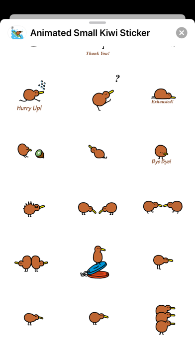 Animated Small Kiwi Sticker screenshot 3