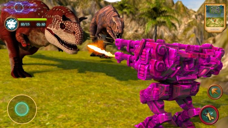 Dinosaur Robot Shooting Battle