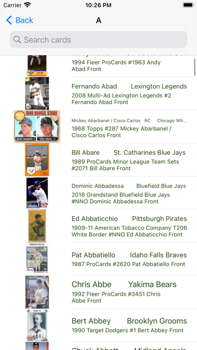 Baseball trading cards PRO screenshot 3