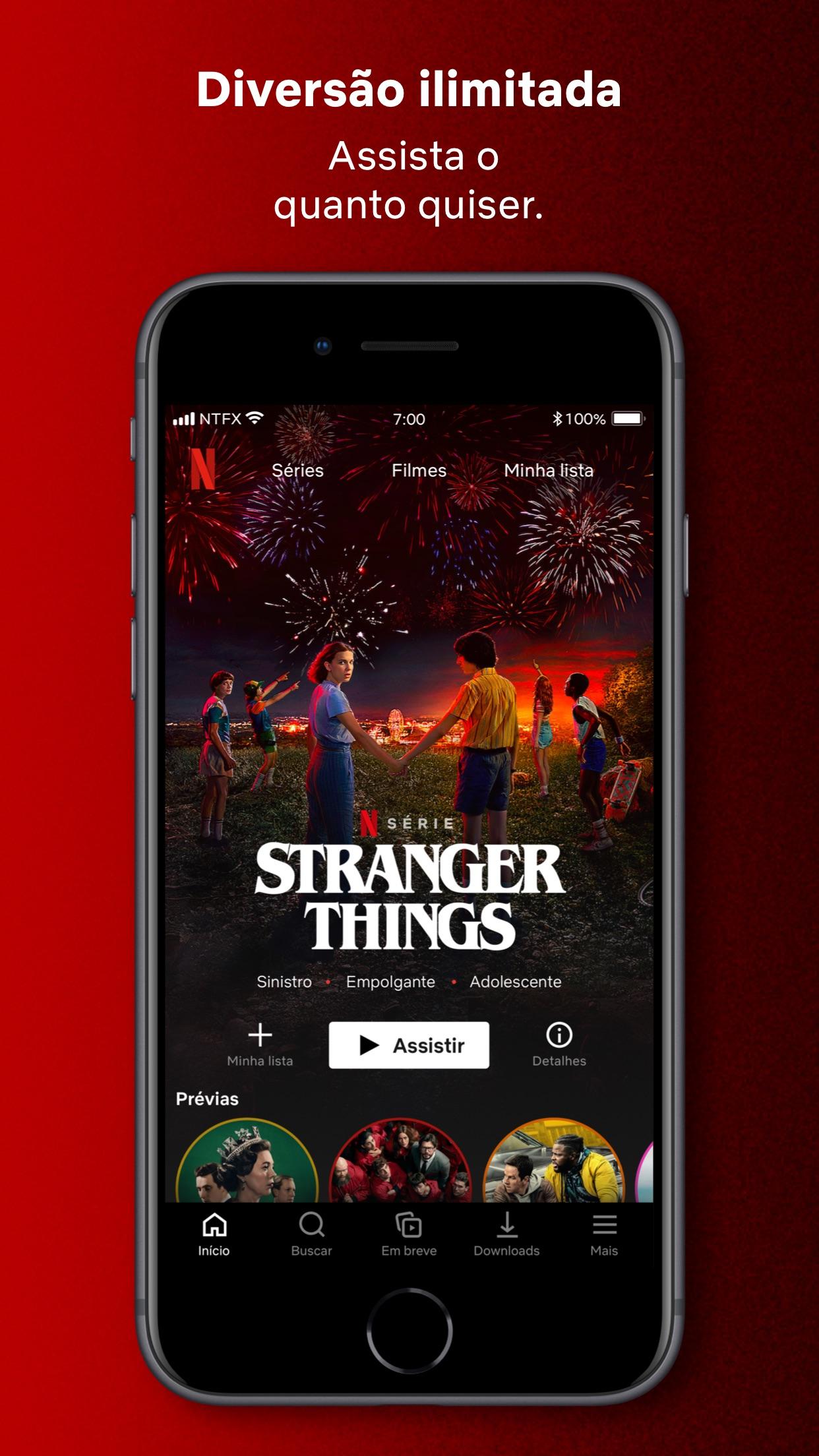 Screenshot do app Netflix