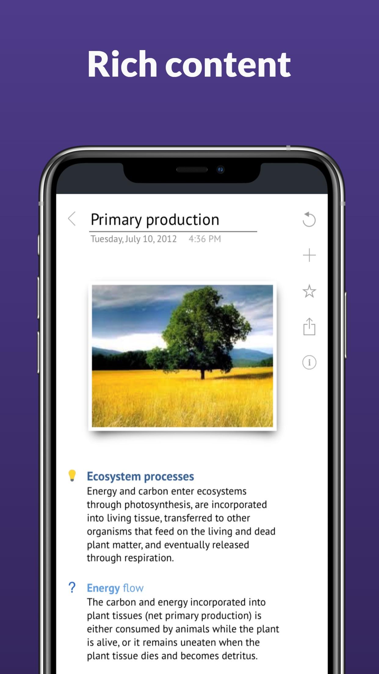 Screenshot do app Outline: Powerful Notes