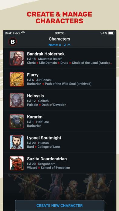 D&D Beyond Screenshot