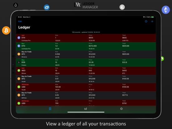 Ledger Manager Screenshots