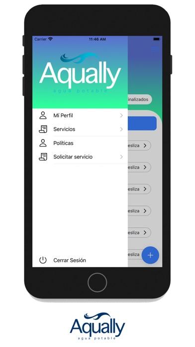 Aqually Admin Screenshot