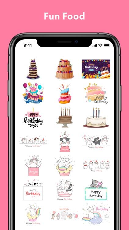 Birthday Stickers #1 screenshot-3