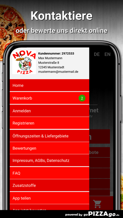 Nova Pizza Leipzig screenshot 3