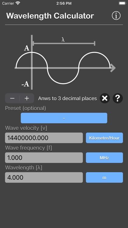 Wavelength Calculator screenshot-8