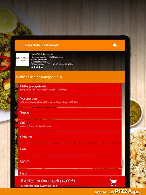 New Delhi Restaurant München screenshot 8