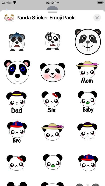 Panda Sticker Emoji Pack screenshot-3