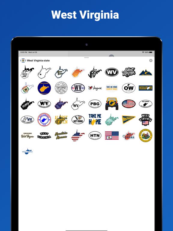 West Virginia state USA emoji screenshot 4