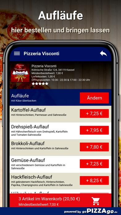 Visconti Kassel Lieferservice screenshot 6
