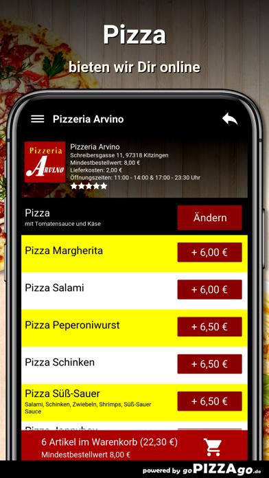 Pizzeria Arvino Kitzingen screenshot 5