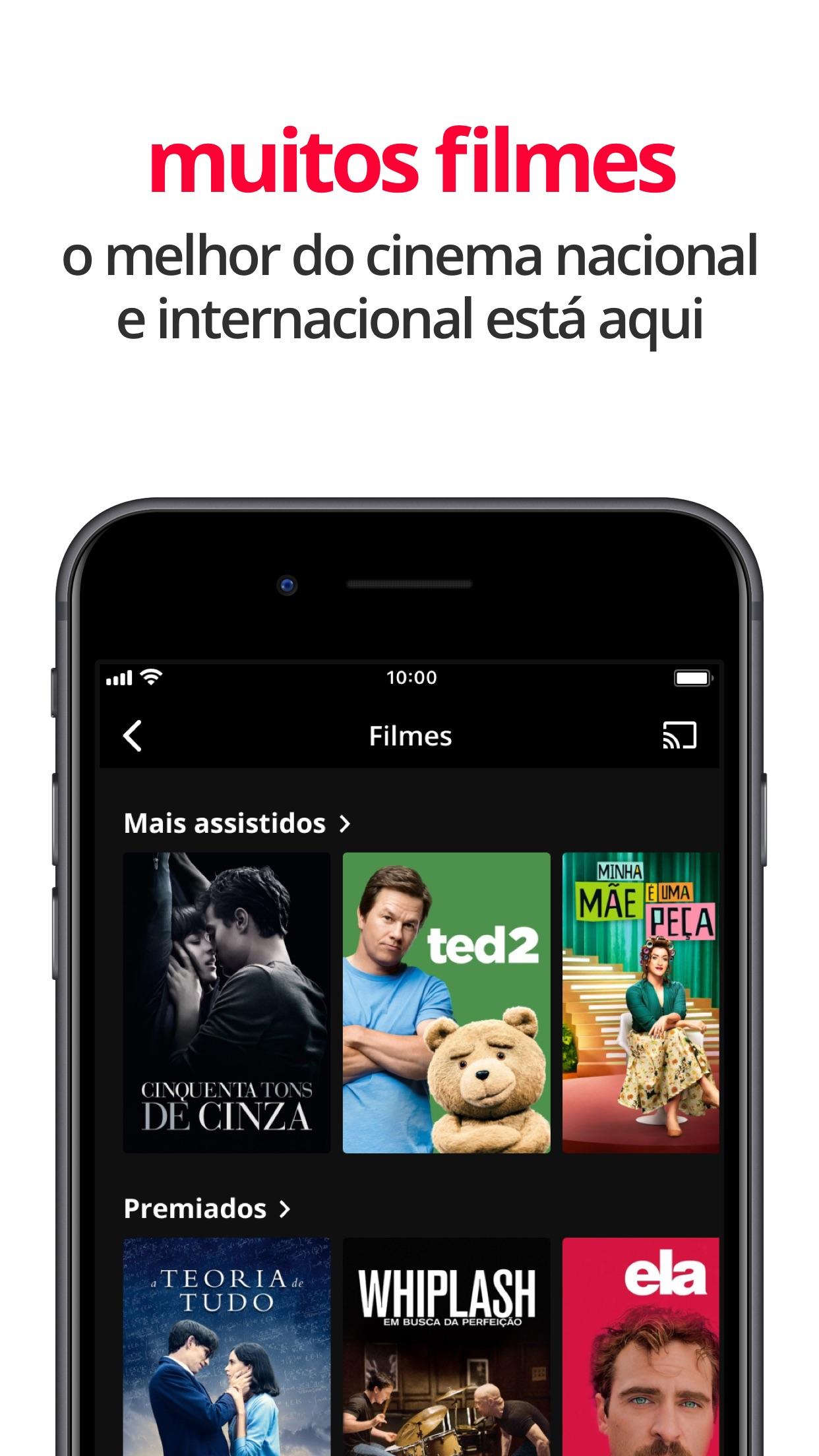 Screenshot do app Globoplay