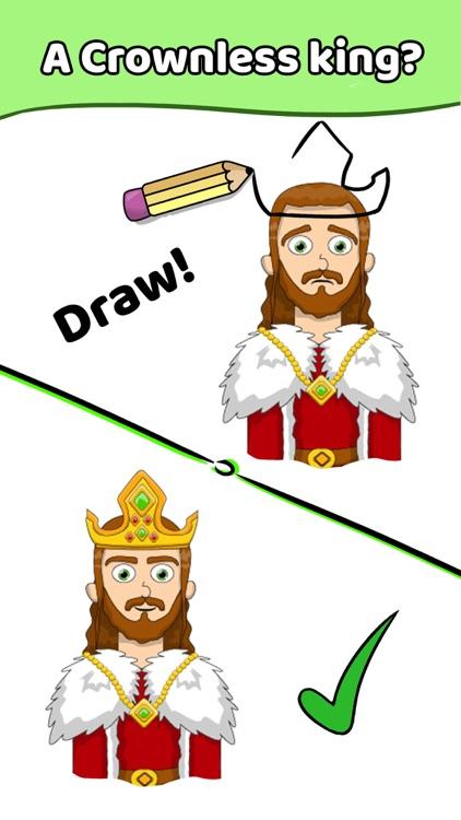 Draw a Line: Tricky Brain Test