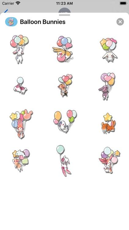 Balloon Bunnies Stickers