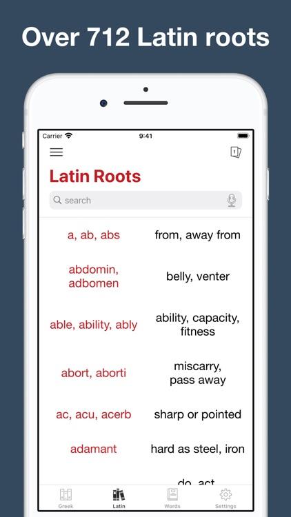 Greek and Latin Roots screenshot-6