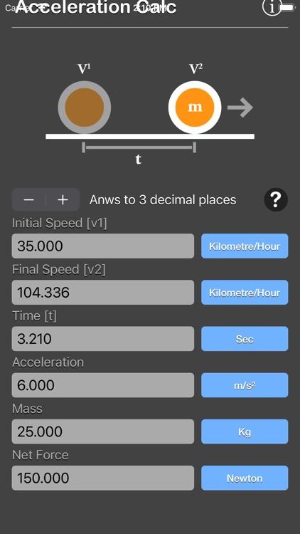 Acceleration Calculator Plus screenshot-7