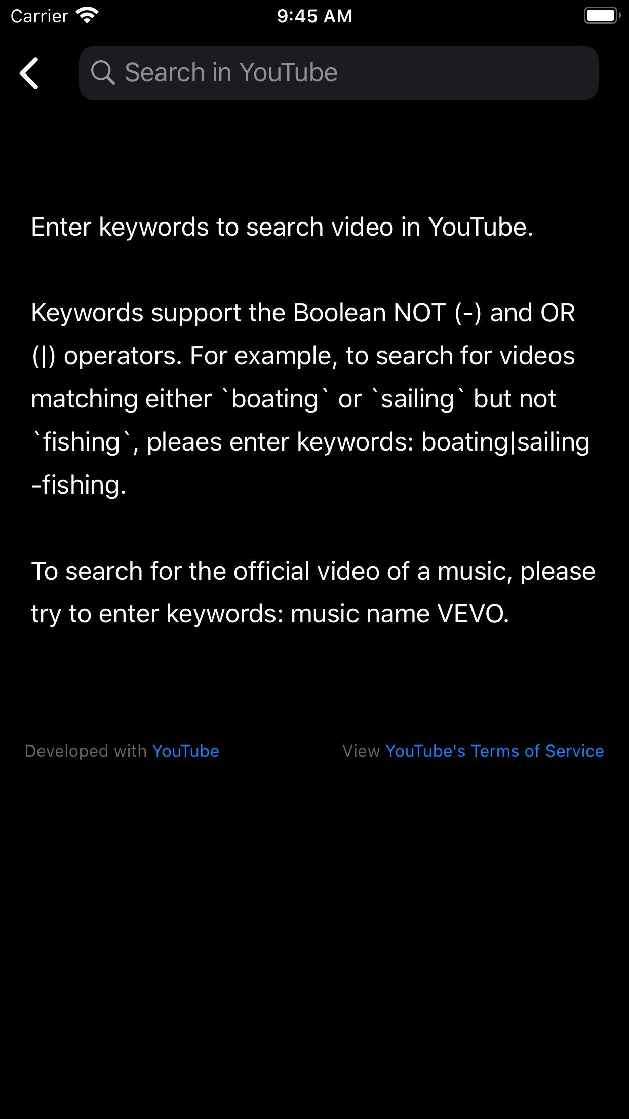 Screenshot do app Tubecasts - Somente Audio play