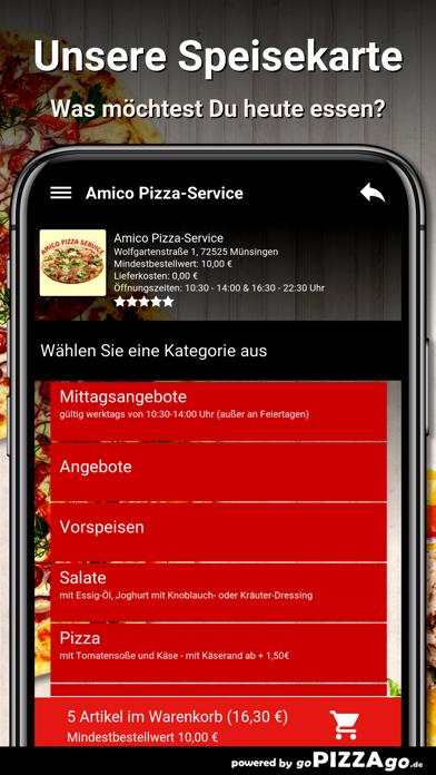 Amico Pizza-Service Münsingen screenshot 4