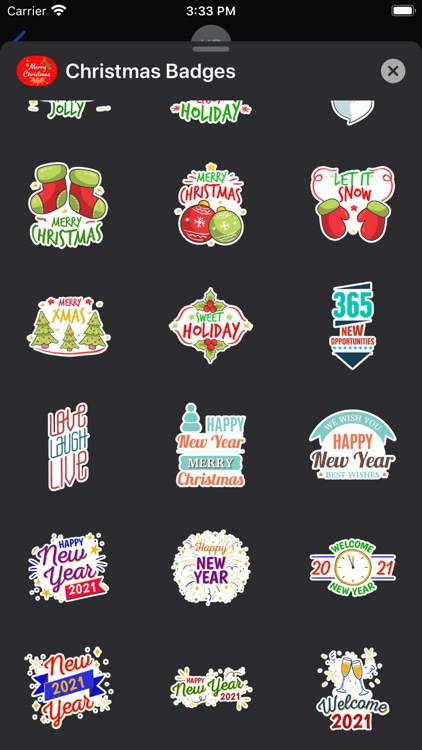 Christmas & New Year Badges screenshot-8