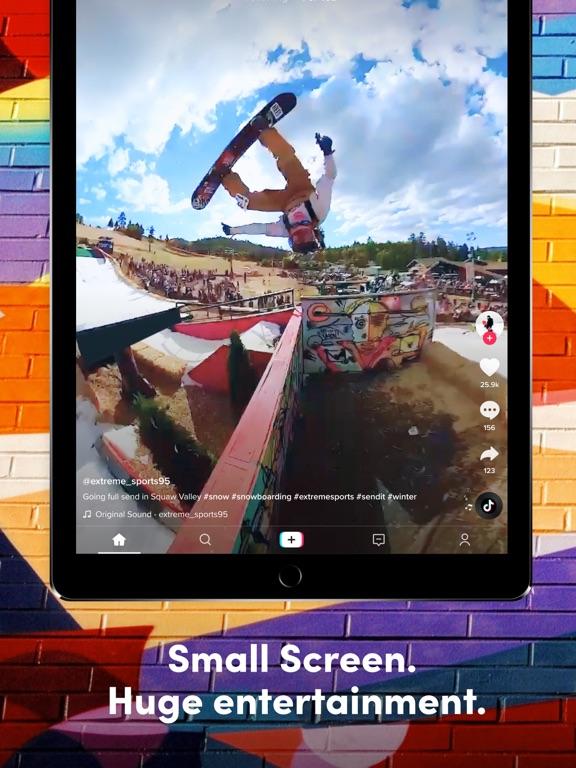 TikTok ipad ekran görüntüleri