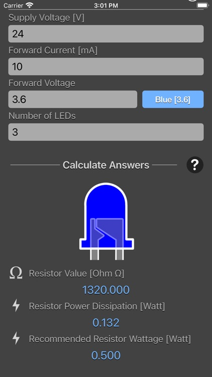 LED Resistor Calculator Plus screenshot-3