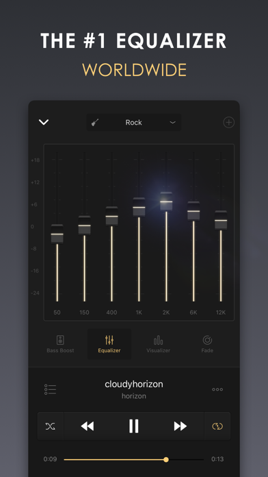 Equalizer+ HD music player Screenshot