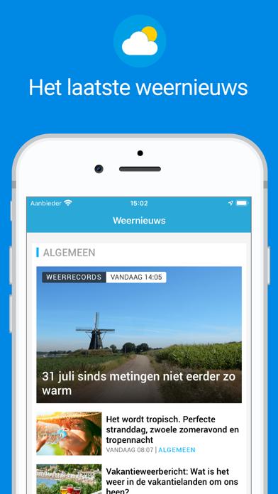 Weerplaza - complete weer app iPhone app afbeelding 3