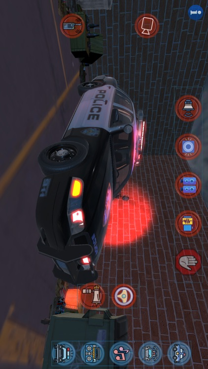 Police Car Lights and Sirens