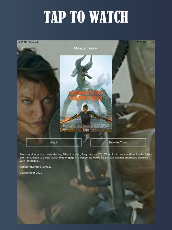Ipad Screen Shot Tuner Radio Movies Player 1