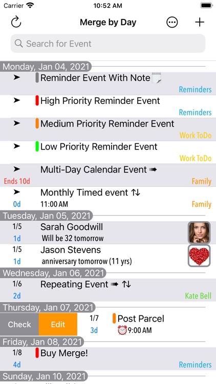 Merge Calendars and Reminders screenshot-0
