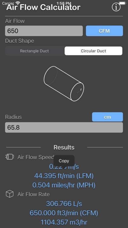 Air Flow Conversion Calculator screenshot-9