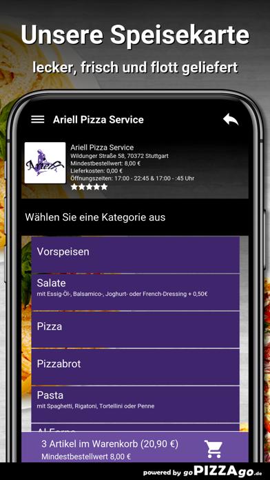 Ariell Pizza Service Stuttgart screenshot 4