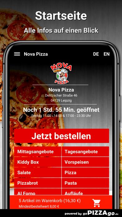 Nova Pizza Leipzig screenshot 2