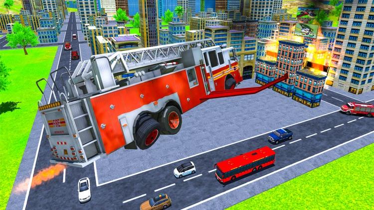Real Flying Fire Truck Robot screenshot-4