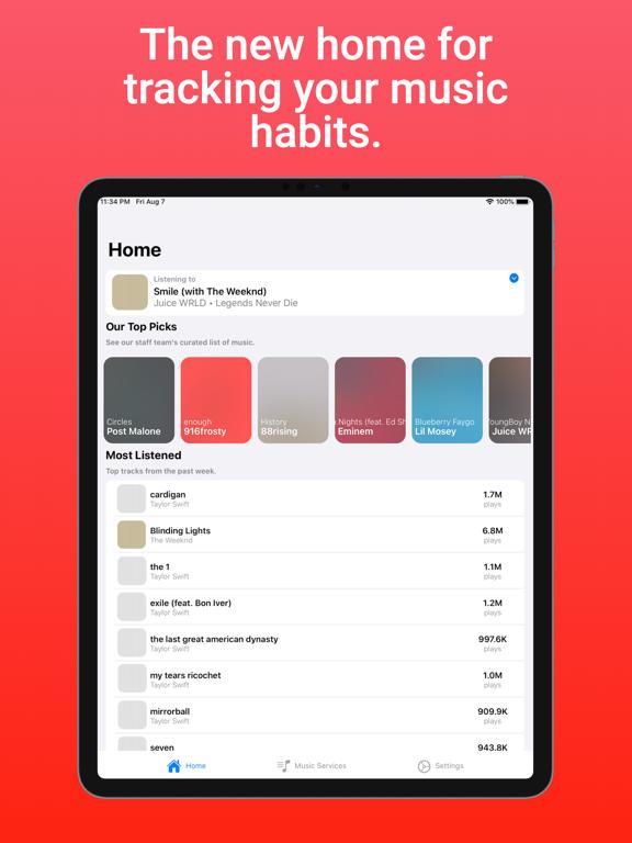 TuneTrack iPad app afbeelding 1