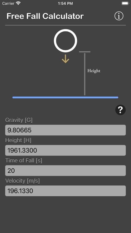 Free Fall Calculator screenshot-9