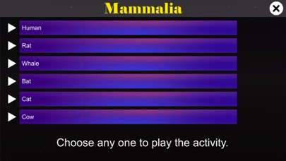 Diversity in Living: Mammalia screenshot 1