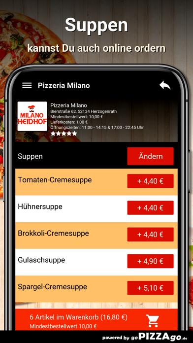 Pizzeria Milano Herzogenrath screenshot 5