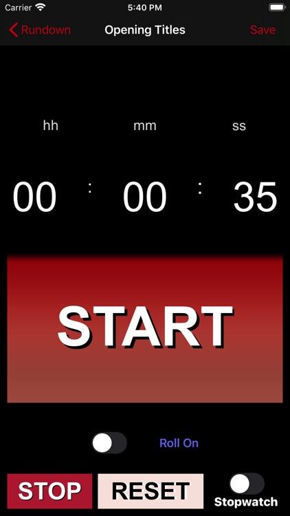 TVProd Timer Pro screenshot-8